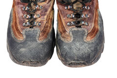 Old and dirty boots Stock Image