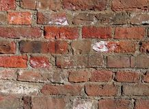 Old and dirty brick background. Photo of old red brick wall stock photo