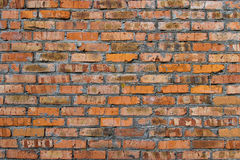 Old dirty brick wall pattern texture. Background of old dirty brick wall pattern texture stock photography