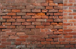 Old dirty brick wall ruins background Stock Image