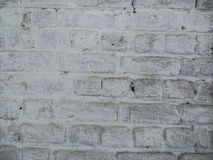 Old dirty brick wall with white color Stock Photo