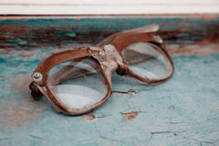 Old dirty  broken spectacles Royalty Free Stock Photography