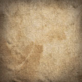 Old dirty brown creasy square burlap texture Stock Image