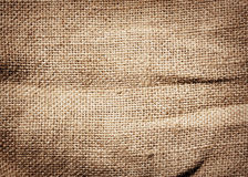 Old dirty burlap texture Stock Photos