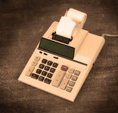 Old dirty calculator Royalty Free Stock Image