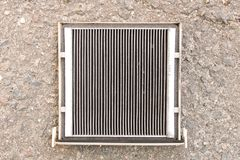 Old dirty car air filter. Close up. Old dirty car air filter. Close up Royalty Free Stock Images