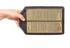 An old and dirty of car air filter Royalty Free Stock Images