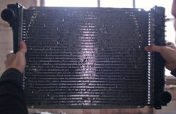Old dirty car radiator Stock Photography