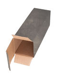 Old dirty cardboard box Stock Images