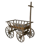 Old dirty cart with cobweb Royalty Free Stock Photo