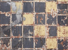 Old dirty colorful tile background Stock Photo
