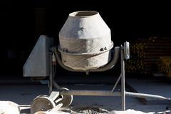 Old dirty concrete mixer Stock Image