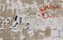 Old dirty concrete wall graffity grunge rough royalty free stock photos