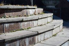 Old dirty cracked stairs Royalty Free Stock Images