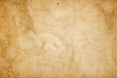 Old dirty and crumpled paper texture. Stock Images