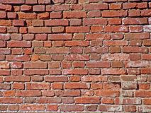 Old Dirty Crushed Bricks. Photo of the old red brick wall royalty free stock photos