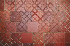 Old dirty destroyed Red Tile as a background. Wall Background. Royalty Free Stock Photos