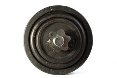 Old dirty dumbbells. Royalty Free Stock Image