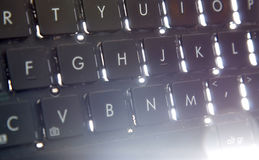 Old dirty and dusty laptop keyboard Royalty Free Stock Image