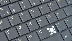 Old dirty and dusty laptop keyboard Royalty Free Stock Photography