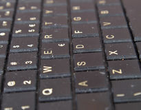 Old dirty and dusty laptop keyboard Royalty Free Stock Photo