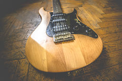 Old dirty electric guitar stock image