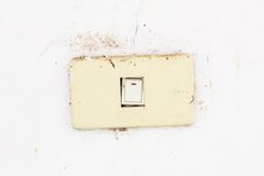 Old and dirty electrical switch Royalty Free Stock Image