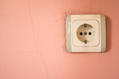 Old and Dirty Electricity Outlet Stock Photos