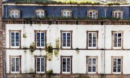Old dirty facade with windows Stock Photography
