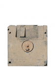 Old and dirty floppy disk Royalty Free Stock Images