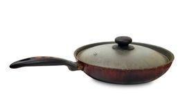 Old dirty frying pan Stock Photos