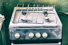 Free Old Dirty Gas Stove In An Abandoned State Stock Photos - 109169363