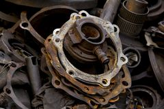 Old dirty gasket is dumped. stock images