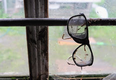 Old dirty glasses Royalty Free Stock Images