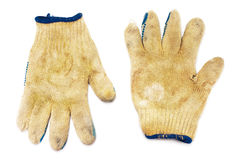 Old dirty gloves Stock Photos