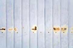 Old dirty gray metal wall as background Royalty Free Stock Images