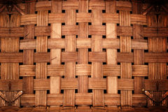 Old dirty grunge bamboo weave background from handmade crafts. Basket Royalty Free Stock Photos