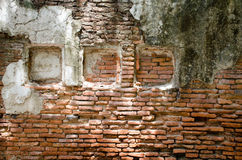 Old dirty interior with brick wall background royalty free stock photography