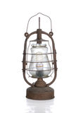 The old dirty kerosene lamp with modern  bulb Royalty Free Stock Photography