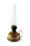 Old dirty kerosene lamp on white background Royalty Free Stock Image