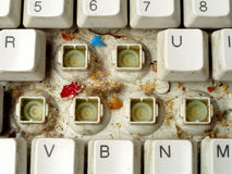 Old dirty keyboard Stock Photography