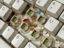 Old dirty keyboard Royalty Free Stock Photography