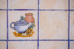 Old and Dirty Kitchen Tiles Royalty Free Stock Images