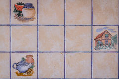 Old and Dirty Kitchen Tiles Stock Photo