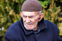 Old dirty man in Turkey Stock Photography