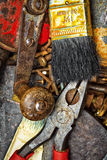 Old and dirty manual tools Royalty Free Stock Photo