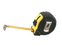 Old dirty measuring tape tilted Royalty Free Stock Image