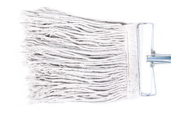 Old dirty mop or swab household, Isolated on white background Stock Photo
