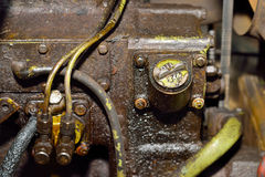 Old dirty motor engine Stock Photo