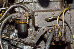 Old dirty motor engine Stock Images